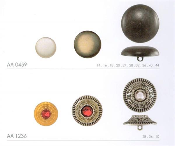 NERE FORO due bottoni in metallo con motivo Ornament 1494as-20 5 altsilberfb