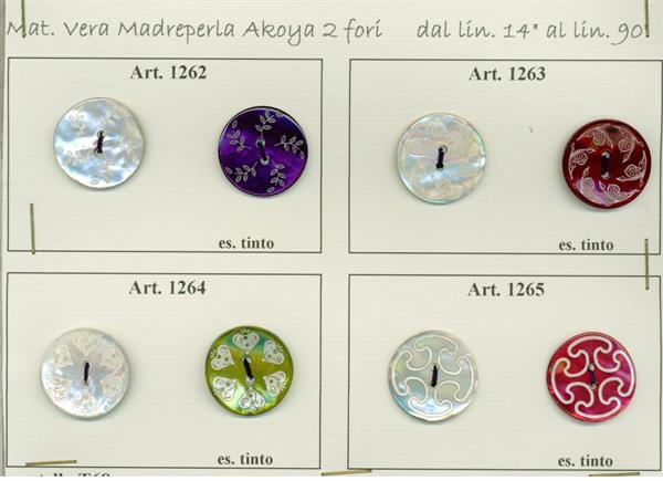22 - Bottoni in vera Madreperla laserati e colorati