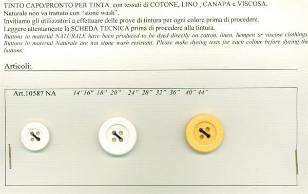 53 - Bottoni per tinta in capo su Cotone, Lino, Canapa e Viscosa
