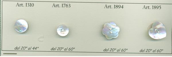 01 - Bottoni in vera Madreperla con applicato strass cristallo