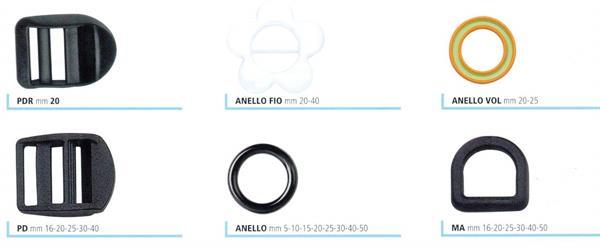 6fcaf5a5d7 06 - Passanti e anelli in nylon per zaini e borse sportive