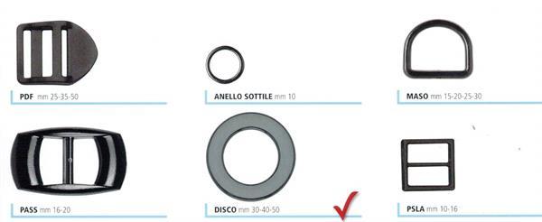 4c3f2d1533 07 - Passanti e anelli in nylon per zaini e borse sportive
