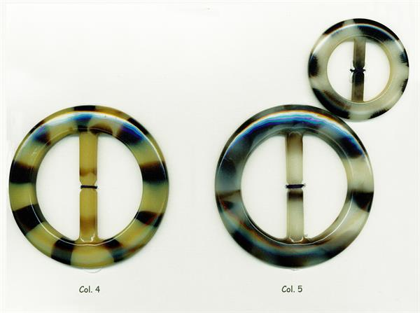 12 - Art.7829 fibbie in poliestere forma tonda