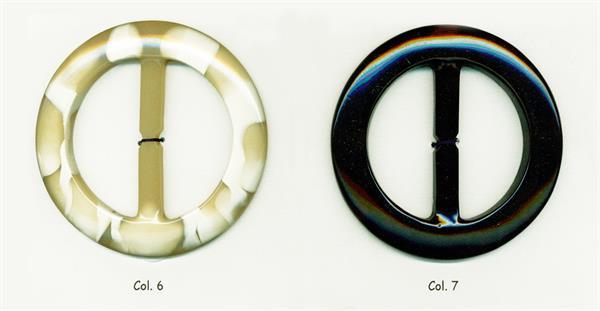 13 - Art.7829 fibbie in poliestere forma tonda